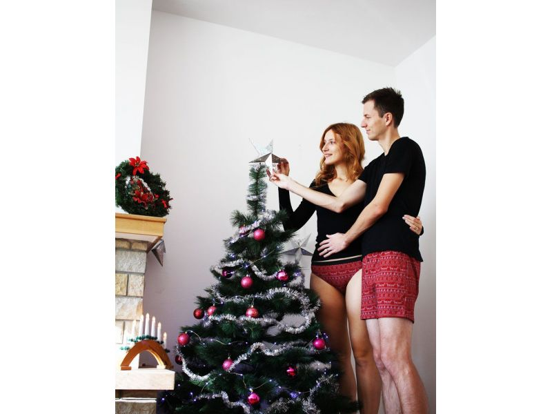 BeMine Christmas matching couple underwear for men