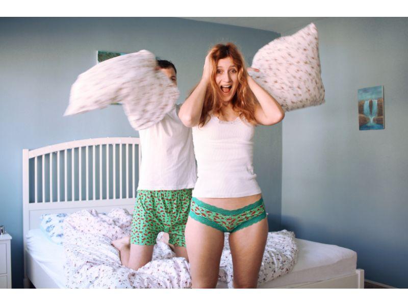 matching underwear couple