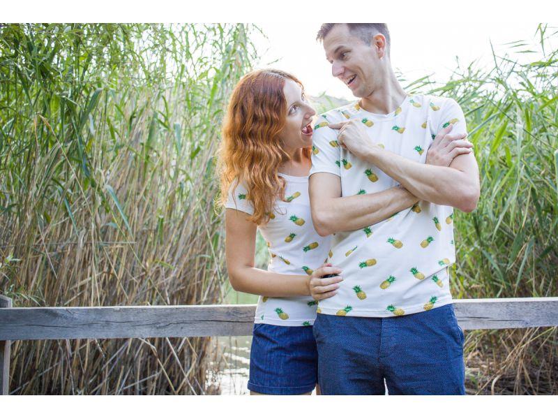 Nejlepší párová trička s ananansem.  Trička pro zamilované. Dárek pro novomanžele.