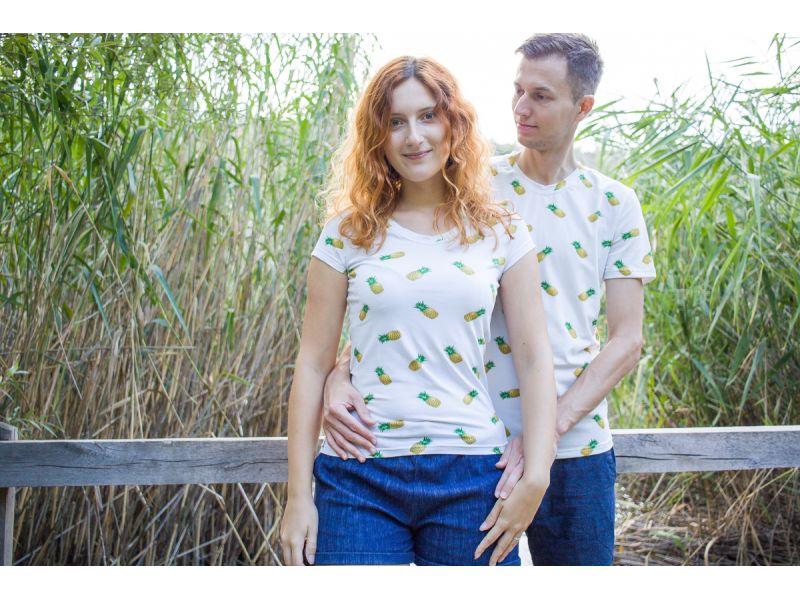 Ananasové tričko pro páry. Tričko pro manžele. Originální dárek pro novomanžele.