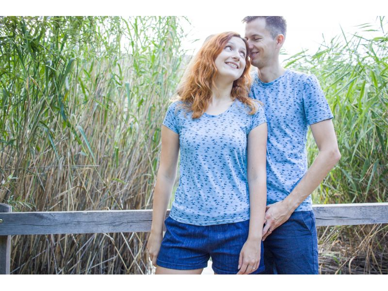 Honeymoon shirts. Shirts for newly weds. Palm shirts for vacation. Cruise couples shirts