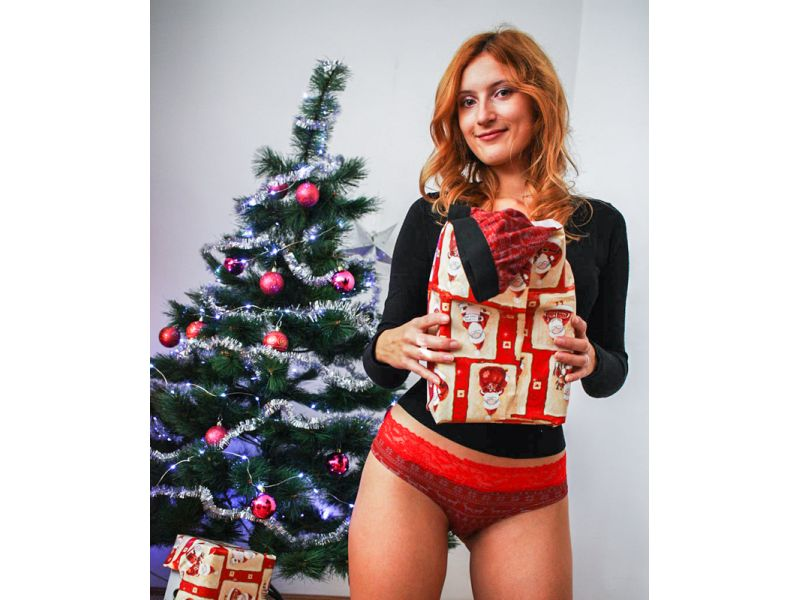 Christmas matching couple underwear. Women Christmas panties
