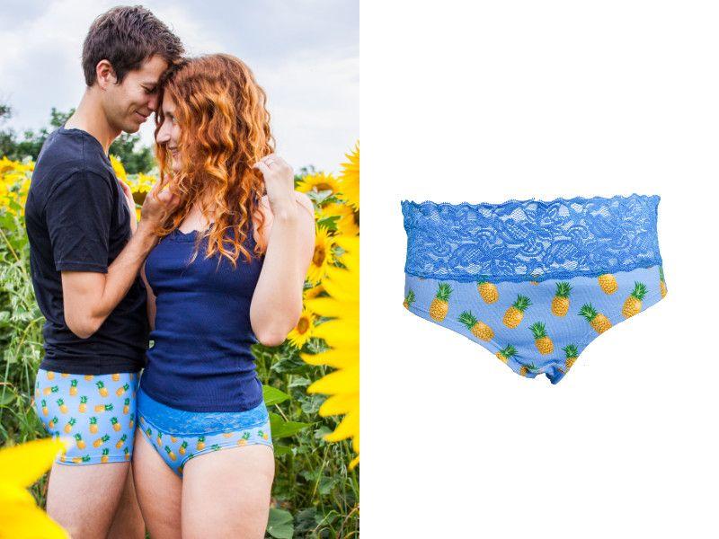Spodní prádlo pro páry. Ananasové prádlo