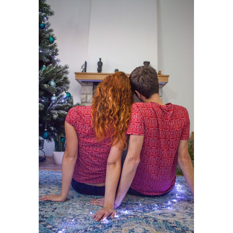 Vánoční párová trička