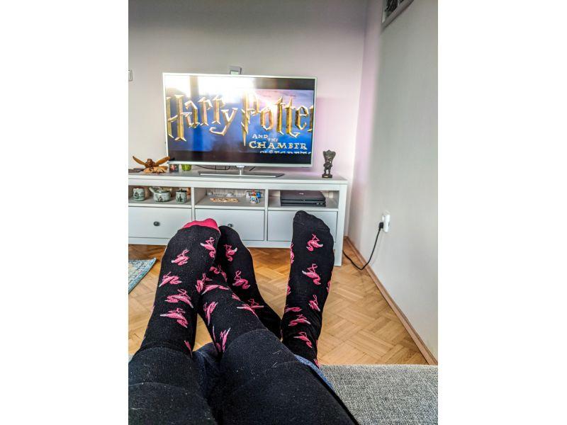 Plameňákové ponožky, párové ponožky