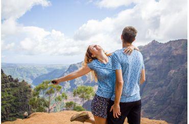 Non-iron couples matching shirts